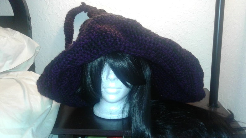 Witch Hat Oversized Witch Hat crochet hat crochet witch image 0