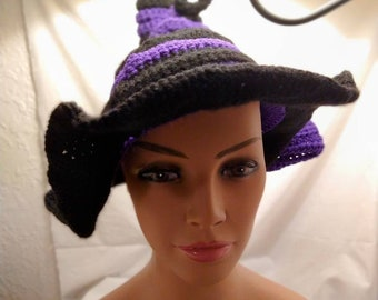 Striped twisted witch hat