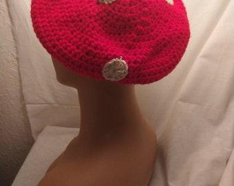Mushroom hat, crochet hat, cottagecore hat, crochet mushroom hat