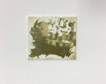 Green & Pale Green.  Two plate, sugar lift aquatint etching.