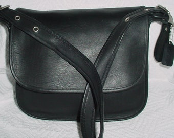 0bd47f3bdf45 Vintage Coach black Leather Legacy Cross body Shoulder bag .style 9951 .