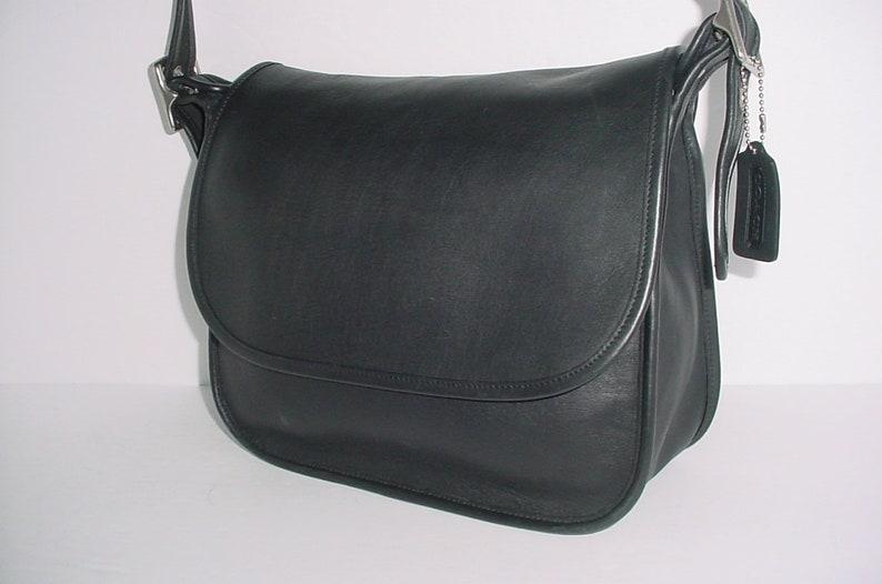 28feaa5db9 Vintage Coach black Leather Legacy Cross body Shoulder bag
