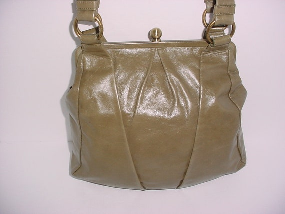 a497600b9135 Vintage hobo international green olives leather Carry on