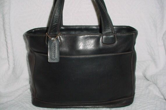 2 day sale Rare Vintage Coach black leather satchel bleaker  8683dc195e5ec