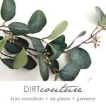 Eucalyptus, faux, eucalyptus spray, eucalyptus leaves, Silver dollar eucalyptus, faux eucalyptus, artificial eucalyptus, dark green eucalyp