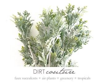 Dusty Miller, faux plant, lamb's ear, dusty miller, gray foliage, gray bouquet