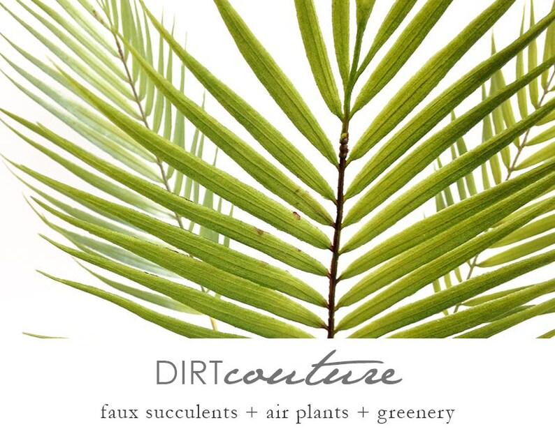 3 palm stems silk flower arrangement artificial tropical image 0