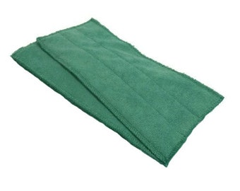 Green- Microfiber Reusable Pad Refill compatible with WetJet- Set of 2 (Inv #13004)
