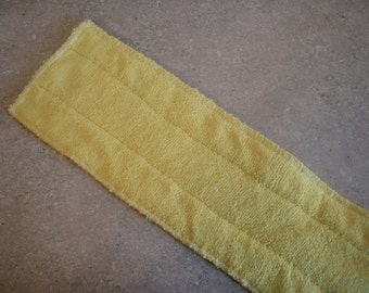 YELLOW- Microfiber Reusable Pad Refill compatible with Bona or Starfiber- Set of 2 (Inv #24003)
