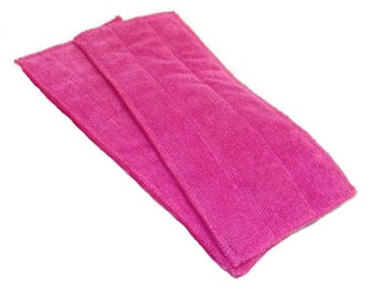 Pink- Microfiber Reusable Pad Refill compatible with WetJet- Set of 2 (Inv #13007)
