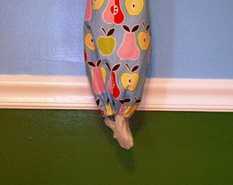 Apples & Pears on Blue- Grocery Bag Dispenser- Plastic Bag Holder (Inv #7003)