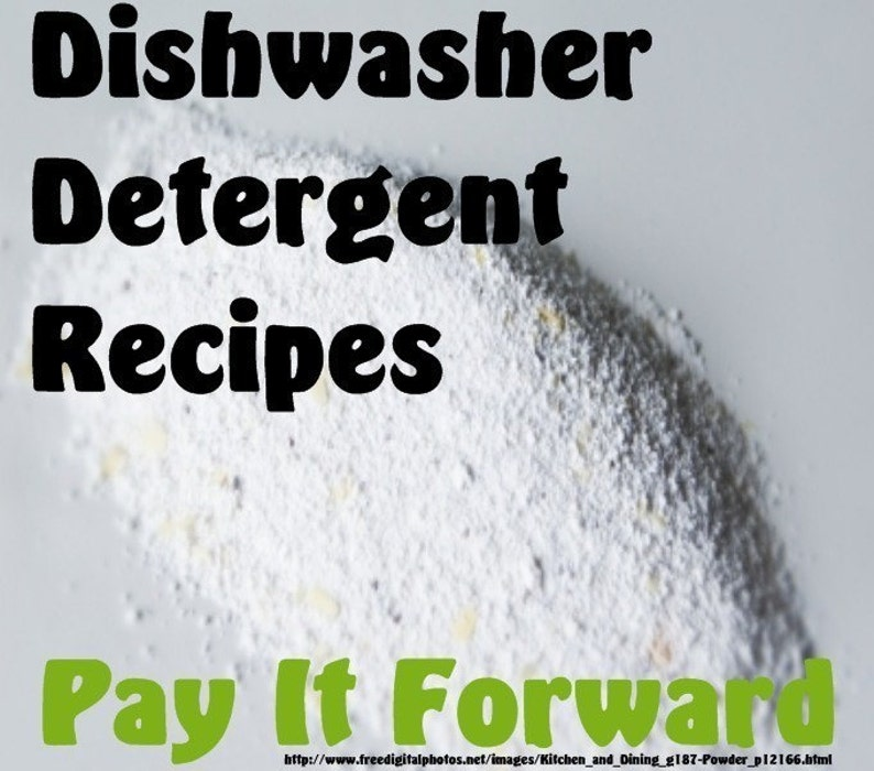 Dishwasher Detergent Recipes PIF Pay It Forward image 0