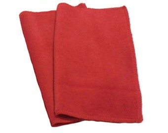Red- Microfiber Reusable Pads Refill compatible with Sweeper- Set of 2 (Inv #14001)