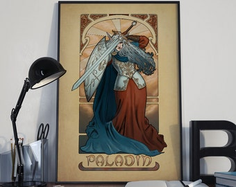 La Paladin - The Paladin - Print - Tabletop Nouveau Dungeons and Dragons Pathfinder