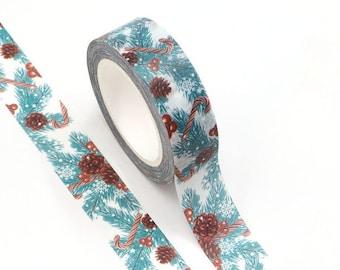 Christmas Pine Tree  Washi Tape - Craft Supplies - Scrapbooking - Planner Stickers - Erin Condren - Bujo Planner - Bible Journaling - Bujo