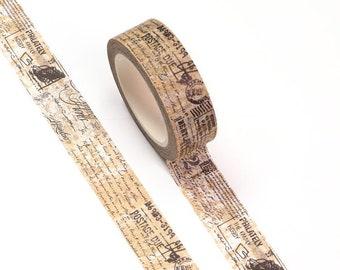 "Postmark Washi Tape - Scrapbook - Card Making - Planner Stickers - Bullet Journal - Bible Journal - Planner - Bujo - 5/8"" x 32.8'"