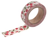 24 Raspberry Washi tape- berry washi-strawberry-craft supplies-card making- party supplies- planner washi-weddings-Love My Tapes-Dailylike