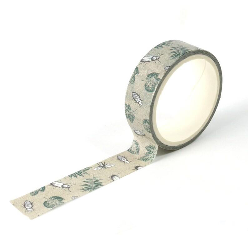 Beetles Washi Tape  Craft Supplies  Scrapbooking  Planner image 0