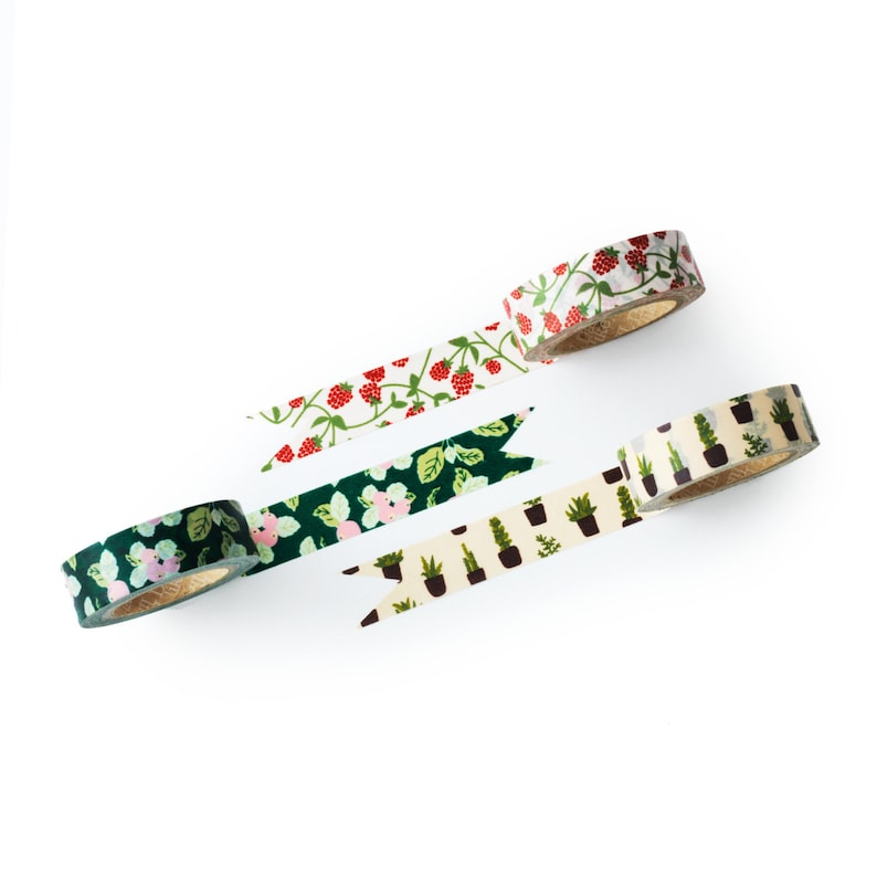 packaging decorative tape DIY value pack new leaf Washi tape set weddings -craft supplies- scrapbooking- Love My Tapes