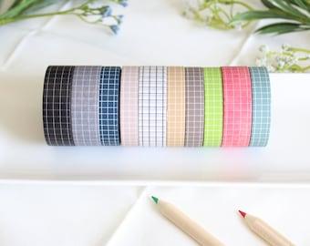 BUJO Washi Tape 10 Set - Planner - Bullet Journal - Bible Journaling - Bujo - Planner Stickers - Scrapbooking - Card Making - Gift Wrapping