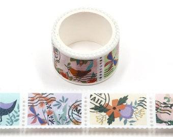 Flower & Bird Stamp - Scrapbook - Card Making - Planner Sticker - Bullet Journal - Bible Journal - Planner - Plan with me - Bujo