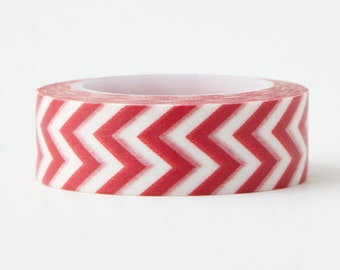 Red Chevron Washi Tape - LMT 1164 - Love My Tapes