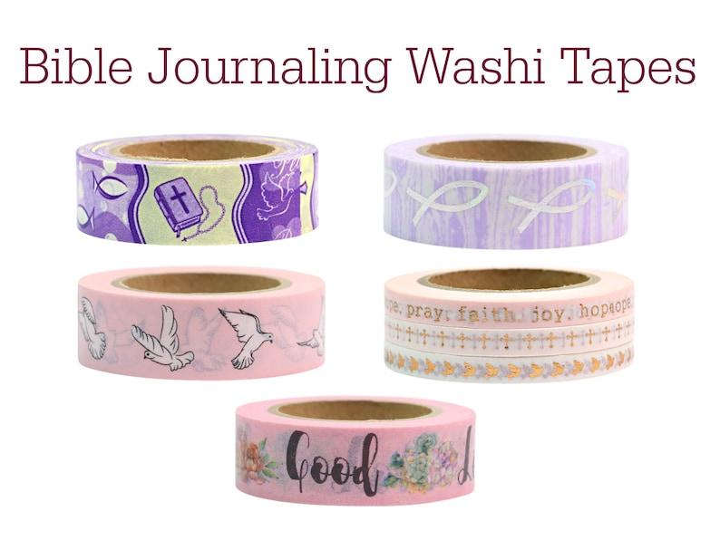 Bible Washi Tapes  Craft Supplies  Scrapbooking  Planner image 0