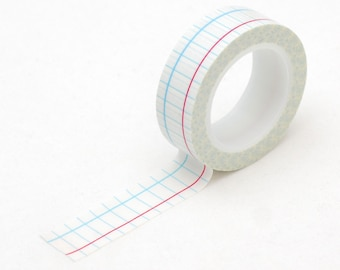 School lined Washi tape - notebook Masking tape - Love My Tapes-LMT1208
