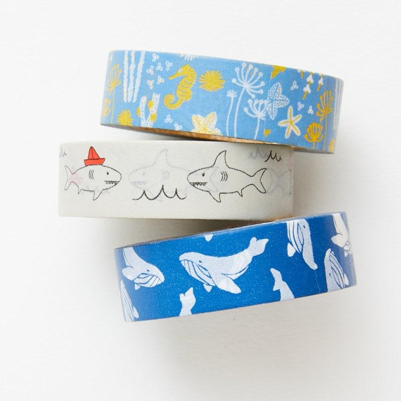 Sea Animal Washi Tape Set  Planner  Bullet Journal  Bible image 0