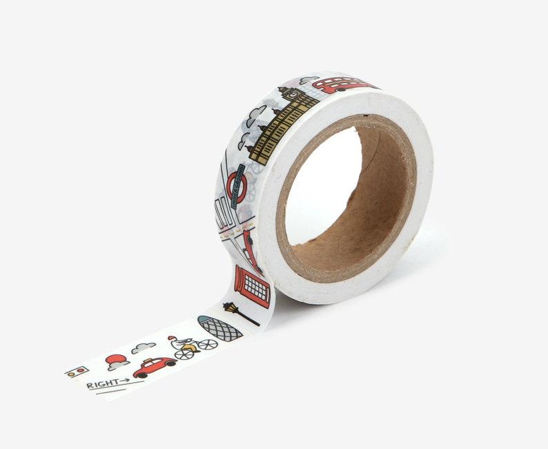 London Washi Tape  Craft Supplies  Scrapbooking  Planner image 0