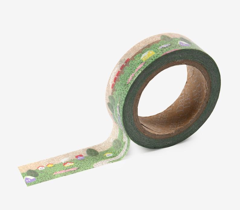 147 Village Washi Tape  Craft Supplies  Scrapbooking  image 0