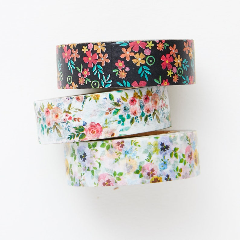 Tiny Flower Washi Tape Set  Planner  Bullet Journal  Bible image 0
