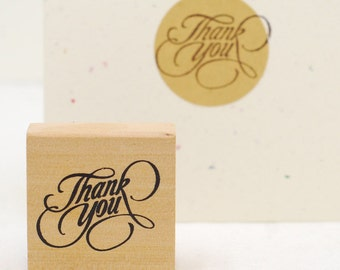 thank you stamp - packaging stamp - wedding stamp - gift wrapping stamp - Love My Tapes