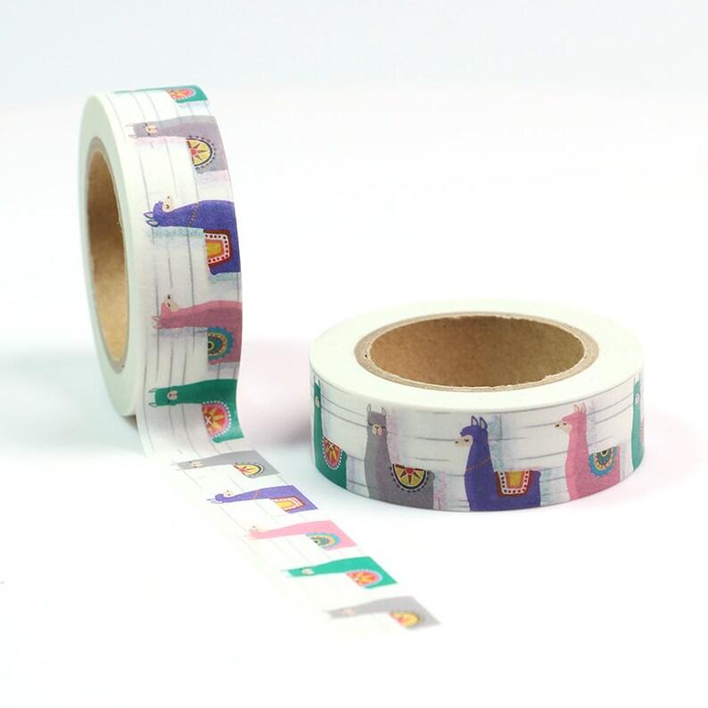 Llama Washi Tape  Craft Supplies  Scrapbooking  Planner image 0