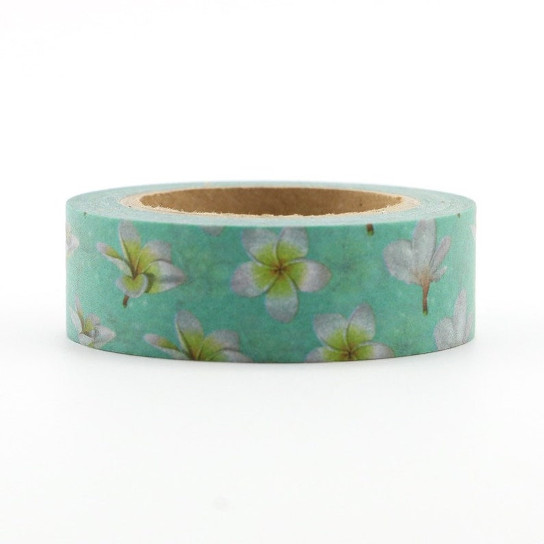 Purple Flower Swirl Washi Tape Craft Decorative Tape