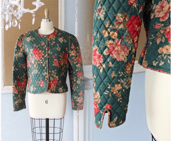 Vintage 1980s Sweet Roses + Greenbriar Patten Quil