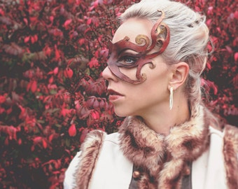 Red and Gold leather Mask