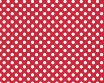 red small polka dot fabric riley blake fabric 12 yard or more c350