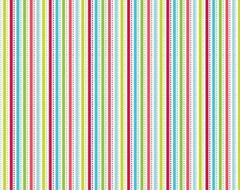 Santa Express Stripe Multi by Doodlebug Designs for Riley Blake, 1/2 yard