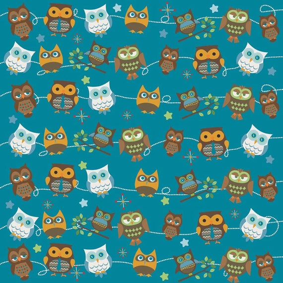 Hooty Hoot Returns Roll Call Blue By Doohikey Designs For