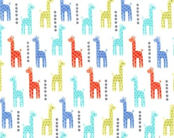Mini Giraffes Blue for Michael Miller, 1/2 yard