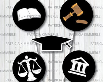 Printable Cupcake Toppers Law School Criminal justice | Etsy