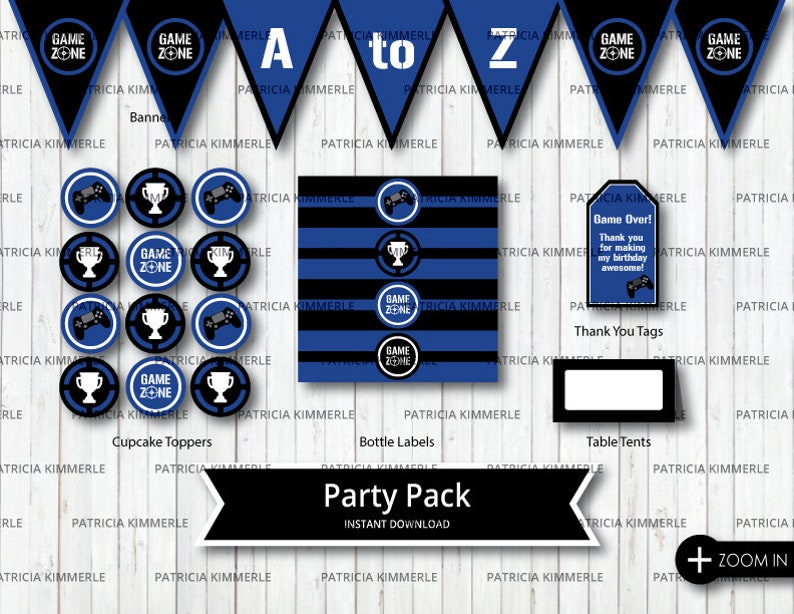 image about Printable Trophy Labels known as Printable Celebration Pack, Match Zone, Online video Match Social gathering, Trophy, Blue, Point Up, Gamer, Activity Participate in, Birthday, Decorations, Do it yourself, Fast Down load