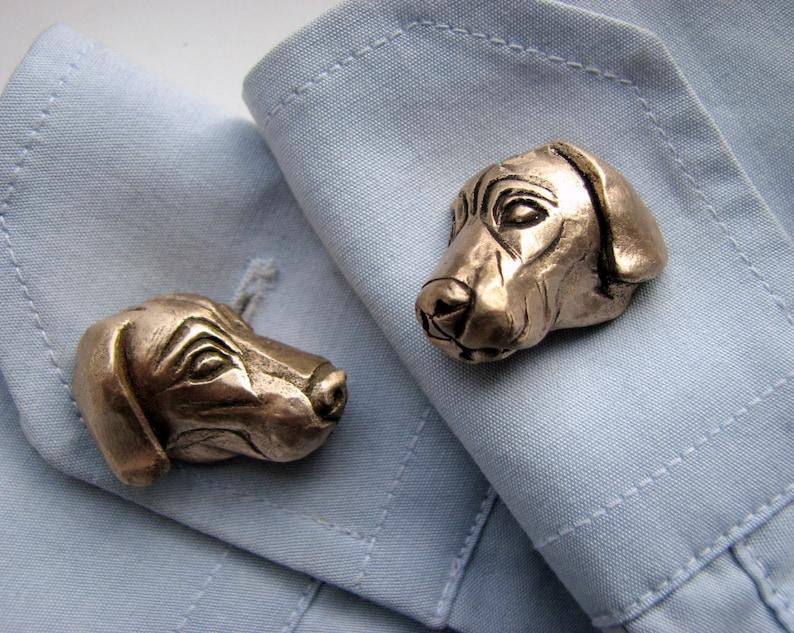 Weimaraner dog cuff links