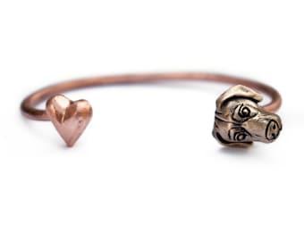 Weimaraner dog cuff bracelet bangle