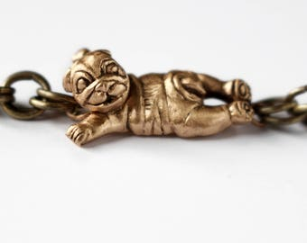 English bulldog jewelry puppy bracelet
