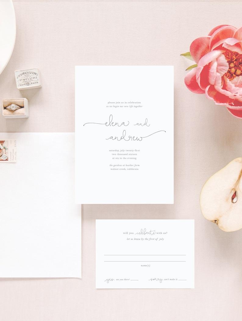 Wedding Invitation Sample  The Elena Suite image 0