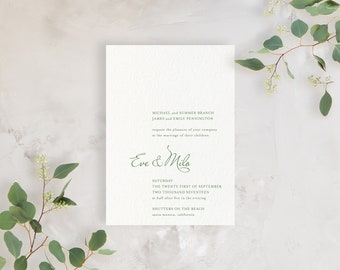 Wedding Invitation Sample - The Shutters Suite