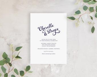 Wedding Invitation Sample - The Seaside Suite