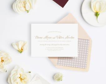 Wedding Invitation Sample - The St. Julian Suite